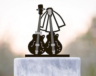 Wedding musicians mr mrs guitar  cake topper,guitar wedding wedding cake topper,musician wedding cake topper,wedding musician topper,a238