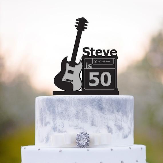 Pleasing Musician Birthday Guitar Cake Topperguitar Birthday Cake Etsy Personalised Birthday Cards Akebfashionlily Jamesorg
