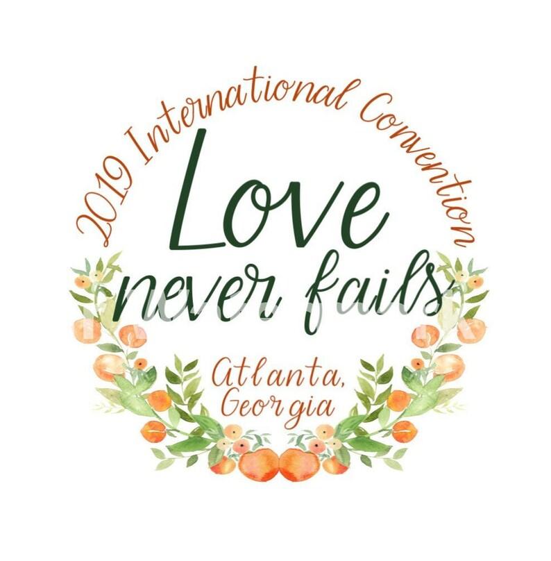 2019 International Convention Jw Gifts JW Pins JW Magnets Love Never Fails  Amor Nunca Falla Georgia Peach Atlanta Best Life Ever