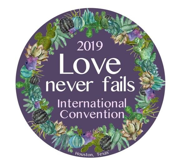 2019 International Convention JW Gifts Jw Pins Customizable Jw Magnets Love  Never Fails Amor Nunca Falla Succulent Cactus Houston Texas