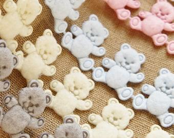 Soft fleece plush trim ribbon sewing craft Teddy Bears Baby shower Christening Newborn lace cards finishing decorating