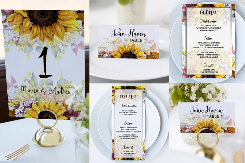 Wedding Guest Book Sign Sunflower Sign,Guestbook Sign Printable Templett SF100 Please Sign Our Guestbook Sign Template Instant Download