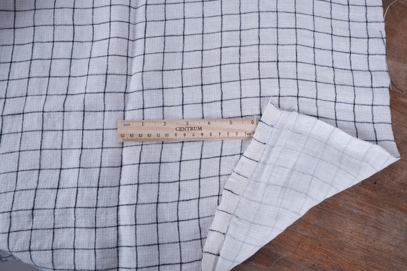 100% linen fabric DOUBLE face double-side fabric. White image 0