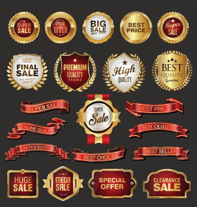 badges labels vector collection Svg Eps Dxf Pdf Png Jpeg