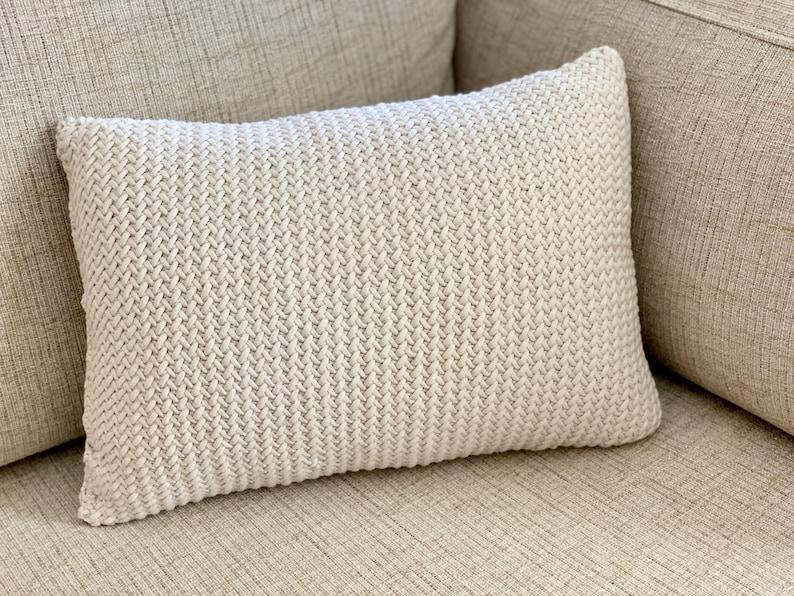The Herringbone Throw Pillow Knit Throw Pillow Pattern image 0