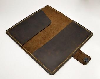Coupons Wallet Cash Holder Batik Tan Fabric Checkbook Cover 6.5x3.5