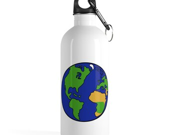 4d2f69d644 The Planet Earth - Stainless Steel Water Bottle - Cartoon Solar System