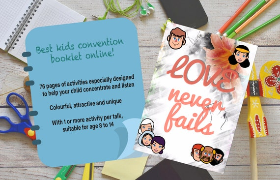 Kids Love Never Fails - English 2019 JW Convention Notebook - Printable  Digital Download - 76 pages of activities