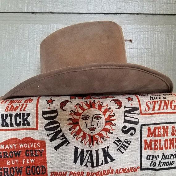 Vintage Union Made Cowboy Hat Brown Beaver Cowboy Hat  cb9a62380032