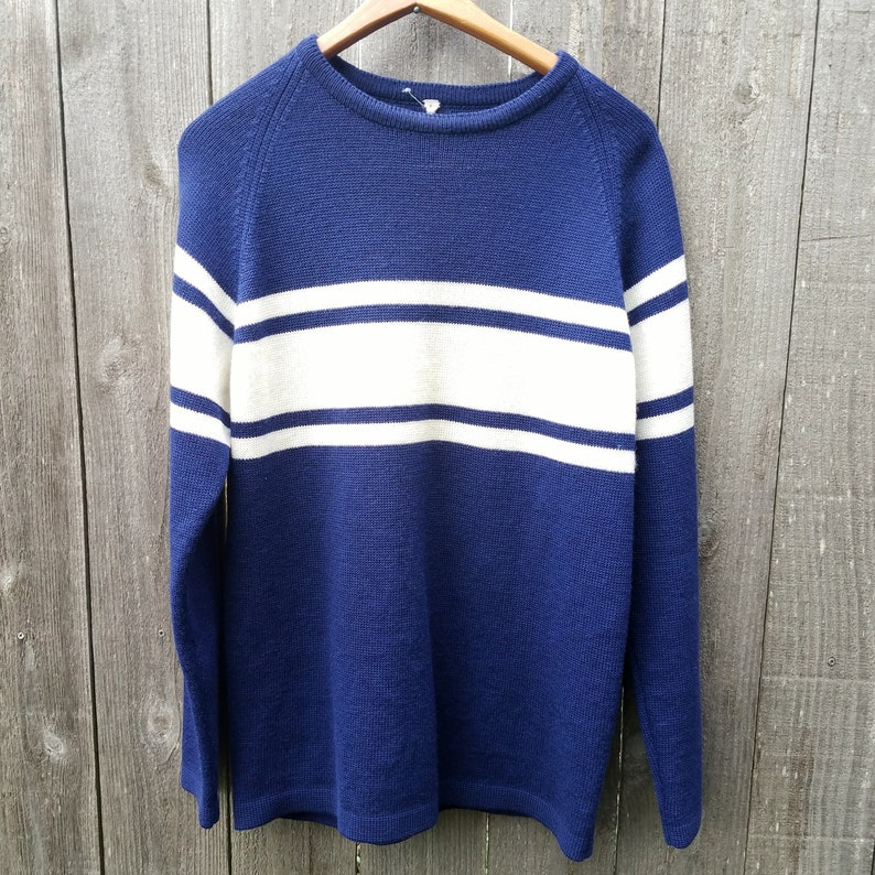 sports shoes ded9d d9481 Vintage 1950's Blue and White Ski Sweater | 50's Vintage Wool Sweater |  Vintage Sweater | 50's Sweaters
