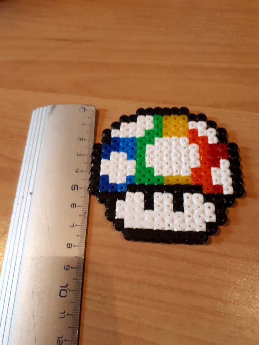 Pixel Art Champignon Arc En Ciel