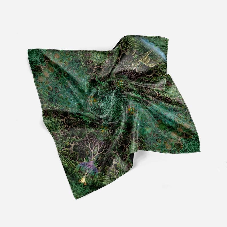 Kinnection Origami Tote  Scarf  Meditation Blanket  Mini Tapestry