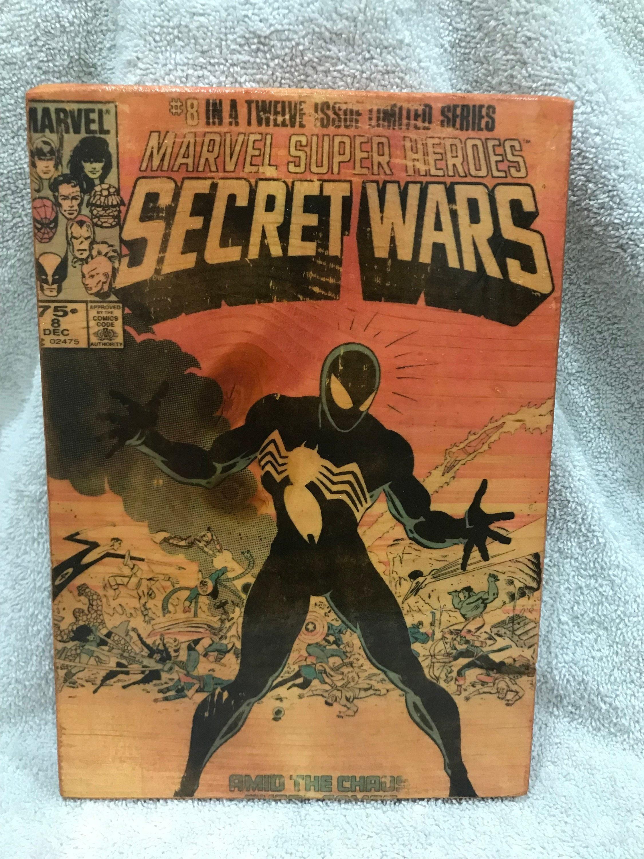 Marvel's Secret Wars wood-block print