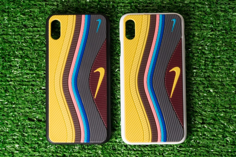 cheap for discount 3ee32 b722f AirMax 97 Sean Wotherspoon (Black or White Edges) Customed 3D Sneaker  iPhone Cases 7/8, 7+/8+, X/XS, XR and XSMAX