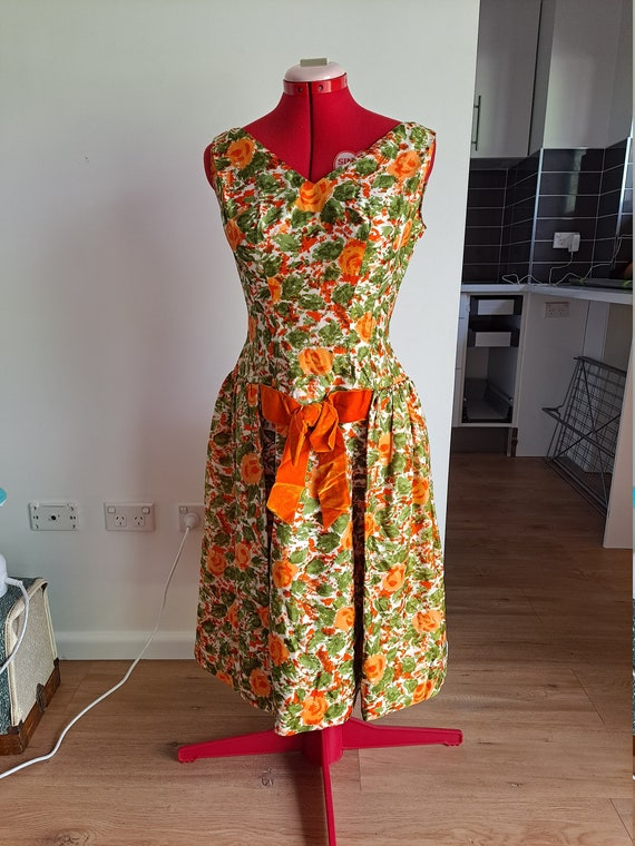 1950s Drop Waist Prom Dress - image 2