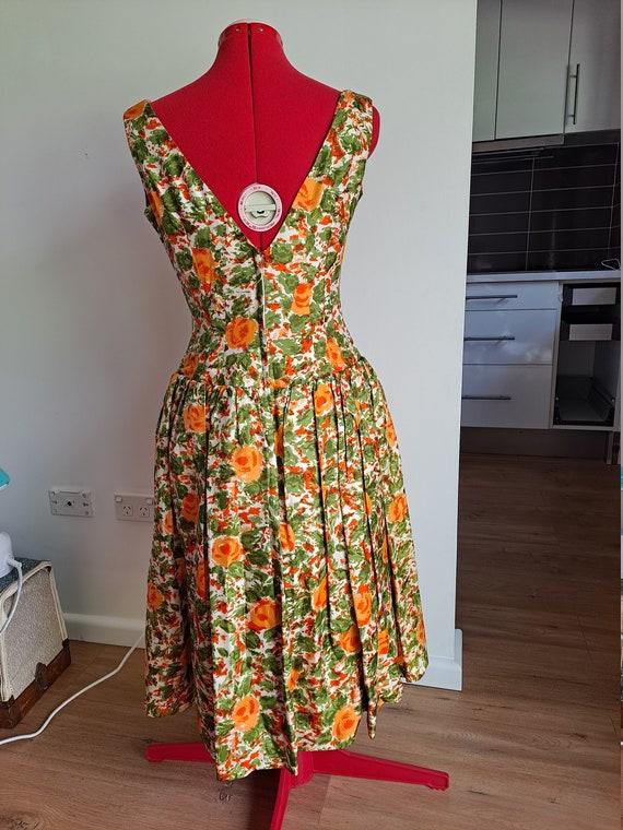 1950s Drop Waist Prom Dress - image 4
