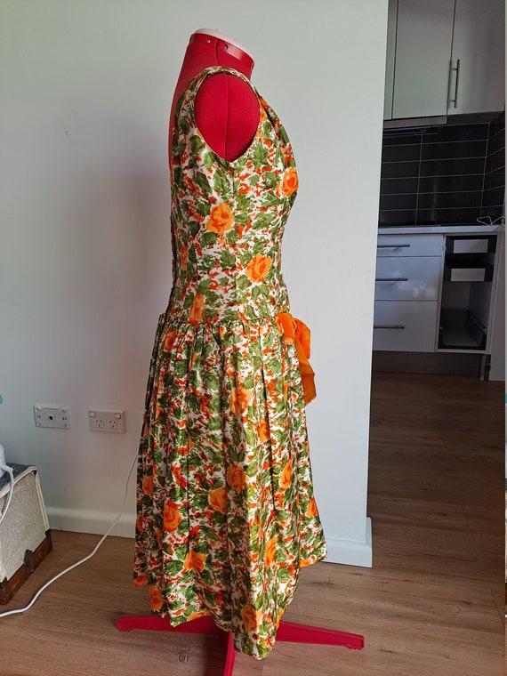 1950s Drop Waist Prom Dress - image 3