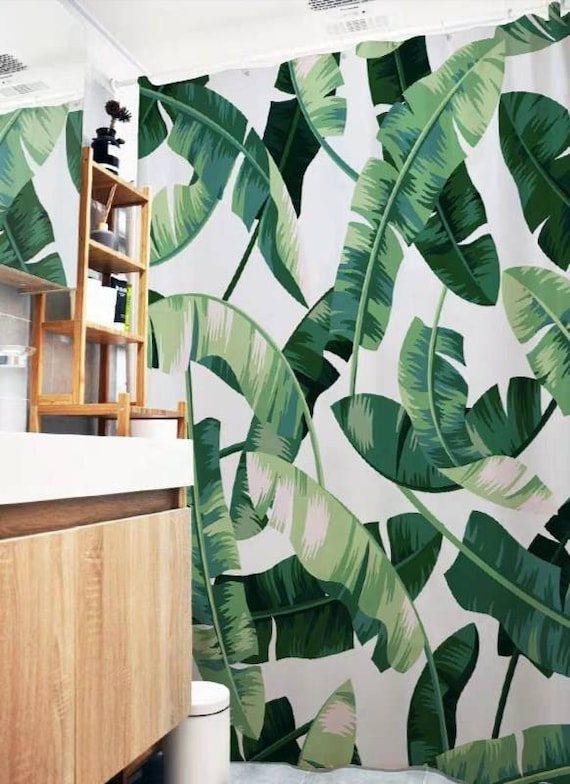 Tropical Leaves Shower Curtain Etsy So very pleased with the quality of this product. etsy
