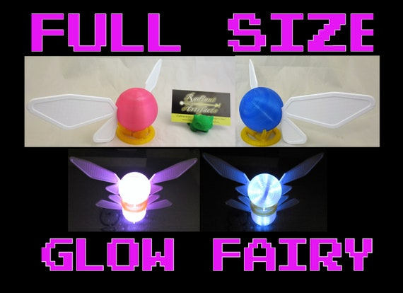 Large LED Glow Link Faerie With Stand 72 hour Battery Power LED Light Up Prop Full Size Light Up Navi Fairy Zelda Cosplay