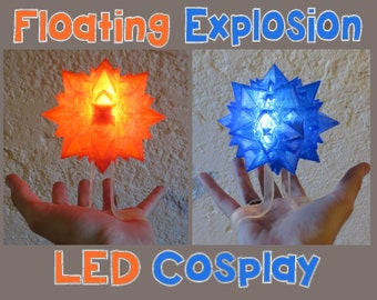 Floating Explosion Cosplay! Light up LED Wearable Handheld Float Bakugou Explode-Ice Ball, for Costume Cosplay, Comiccon, Halloween
