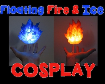 Floating Fire & Ice Cosplay! Light up LED Wearable Flame, IceBall, FireBall, and Other Elements for Costume Cosplay, Comiccon, Halloween
