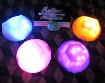 Steven Universe LED GEM, Wearable Glow Light Up Crystal Prop Amethyst Spinel Heart Rose Quartz Pearl Diamond, Cosplay, Costume, Halloween