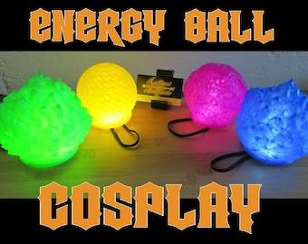 LED Energy Ball Cosplay Prop, Wearable DBZ Super Saiyan Plasma Spirit Bomb Costume Prop for Comiccon, Halloween