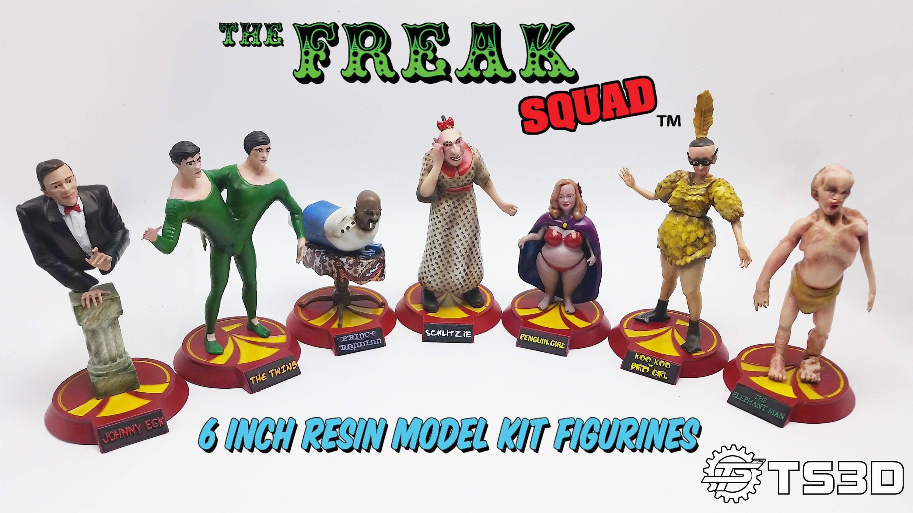 The Freak Squad - 6 inch Resin Model Kits - Complete set