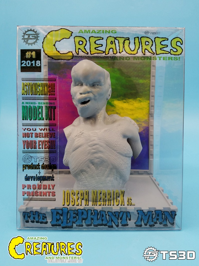 Amazing Creatures Elephant Man Model Kit Bust