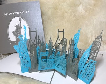 New York City Thanksgiving CardBirthday CardMothers Day CardCongratulation Card Handmand 3D POPUP Greeting Cards For All Occasions