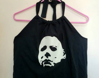 Michael Myers cropped halter top