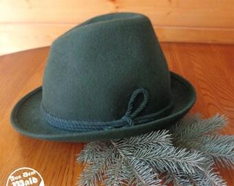 1ec19b0b048 German Austrian Oktoberfest Loden Wool Alpine Hat