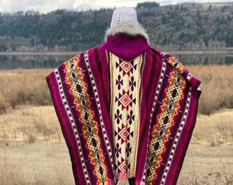 Christmas Gift Idea | Poncho | Wool Blend Poncho | Unisex Poncho | Poncho for Him | Poncho for her | Boho Chic Clothing | Yoga Gear