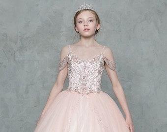 Girls Ball Gown DressVestido de 3 Anos para Presentacion SY113