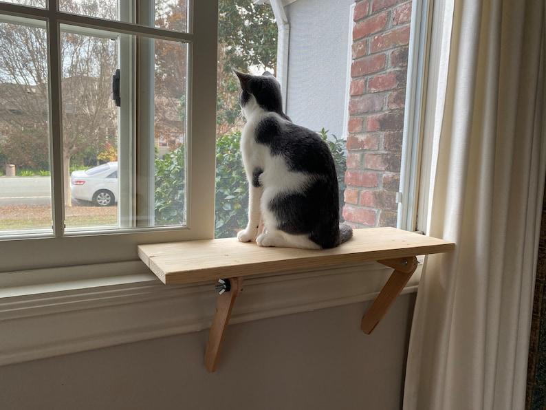 Cat Window Perch  Cat Shelf  Window Sill  No Tools image 7