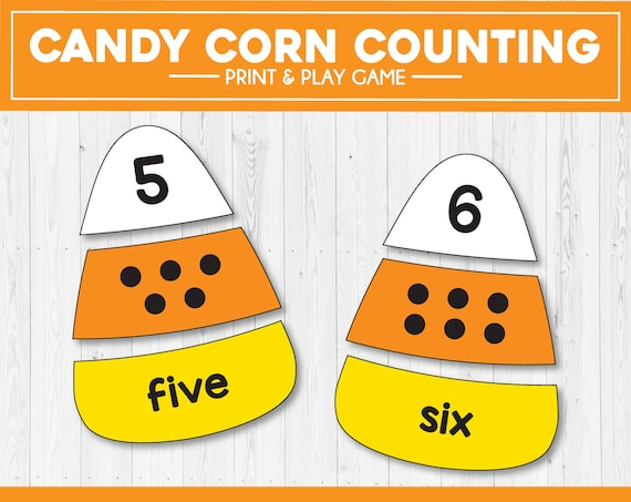Candy Corn Counting  Halloween Kids Games  Halloween Puzzles