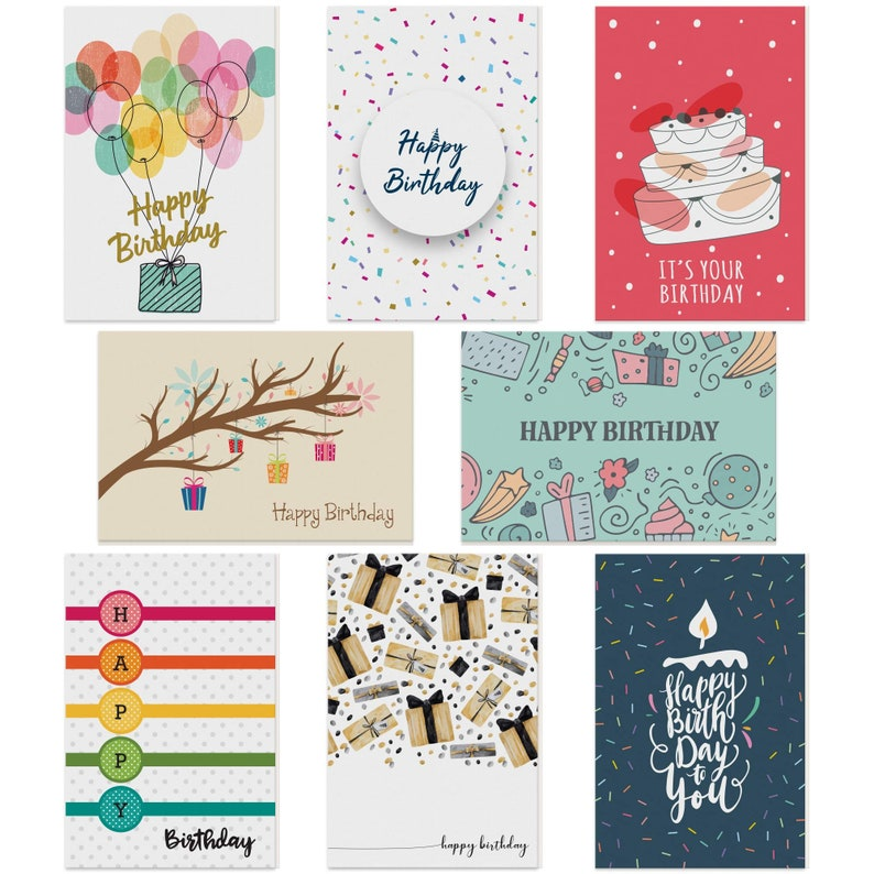 dessie 100 unique birthday cards assortment with greetings