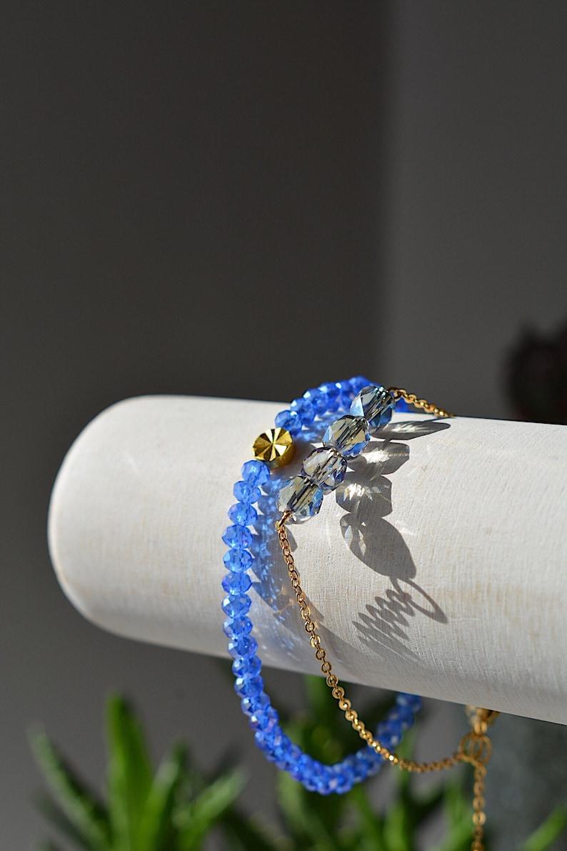 CLEARANCE ~ Dainty Czech Bracelet Gold Plated Minimalist style