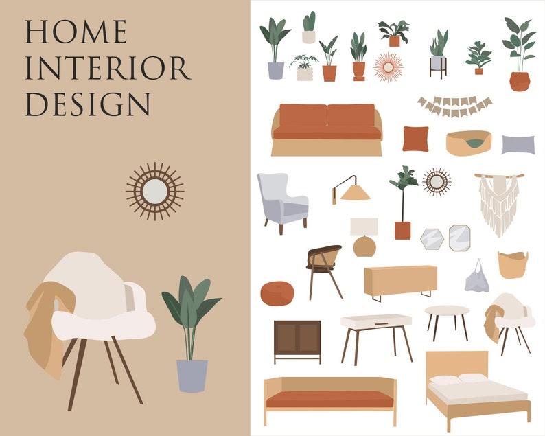 Bohemian Decor Illustrations interior design furniture image 0