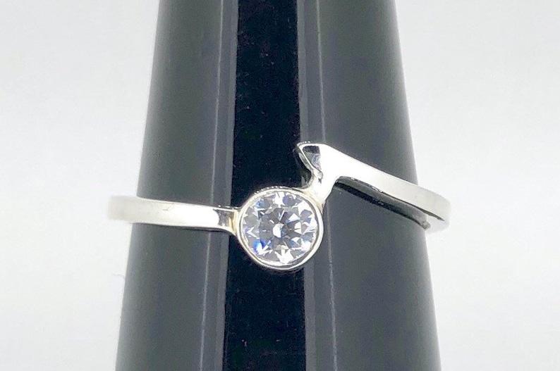 Cubic Zirconia American Diamond Sterling Silver Ring