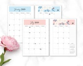 A5 Printable Life Planner 2019 Bundle - Monthly Dashboards, Monthly Planner, Weekly Planner, Year at Glance, Goal and Project Planner