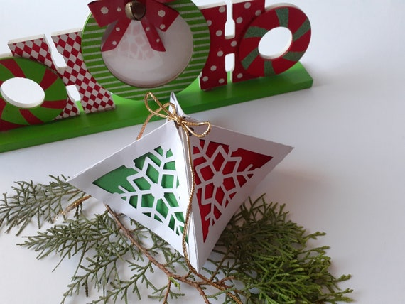Svg Christmas Ornament Box And Lantern 3d Paper Craft Etsy