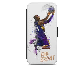 f288873c10 Kobe Bryant Basketball Art leather wallet flip phone case cover for iphone  and samsung