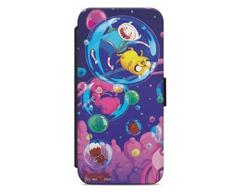 Adventure Time Cartoon Jake Fin leather wallet flip phone case cover for iphone  and samsung fe0e55f245f77