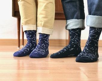 Constellation socks, space socks