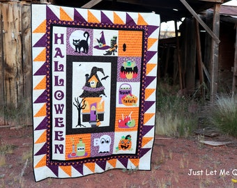 Halloween Boos Downloadable PDF Quilt Pattern
