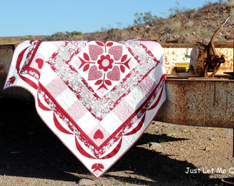 Rustic Romance Quilt in PDF Downloadable Pattern