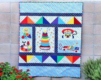 Vintage Toy Time Quilt
