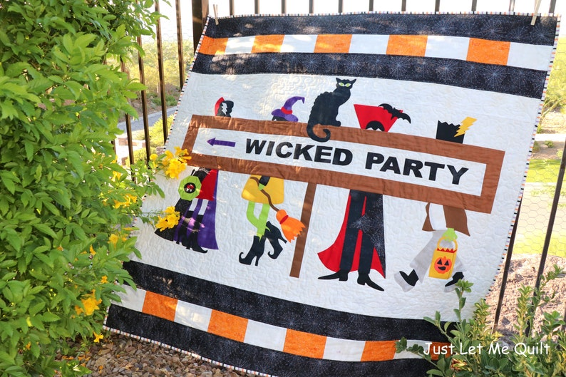 Halloween Wicked Party Quilt PDF Quilt Pattern image 0