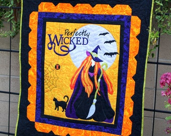 Perfectly Wicked Halloween Wall Hanging PDF Downloadable Pattern